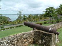 Cannon overlooking Lake Bacalar