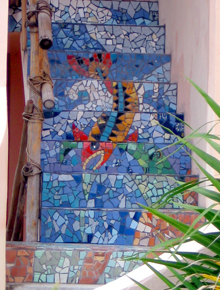 Art And Mosaics At Mayan Beach Garden
