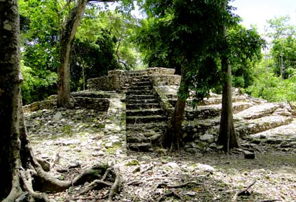 Oxtankah Mayan Ruins located near Chetumal