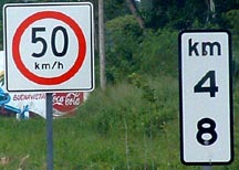 km  markers