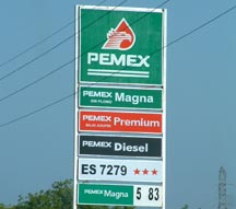 Pemex gas station in Majahual