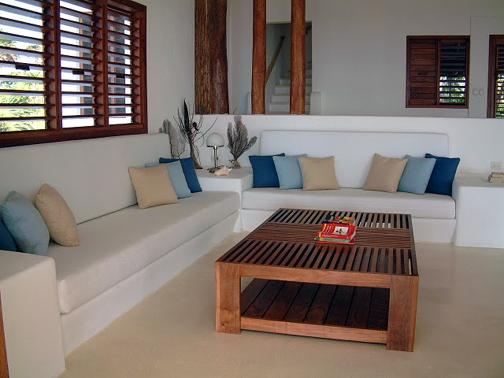 Casona palms ocean front home costa maya mahahual - Cojines decorativos para sofas ...