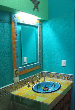 Mexico beach house costa maya mahahual taj majahual for Mexican themed bathroom ideas