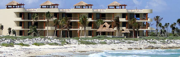 Costa Maya Villas and Cruise ship