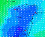 Wind forecast for Yucatan Penninsula